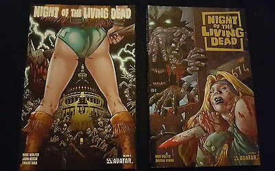 night of the living dead volume 2 & 3 graphic novels zombie