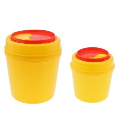 2 Pack 1L 4L Sharps Container Biohazard Disposal Collect Bin Tattoo Medical