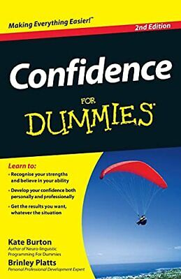 Confidence For Dummies by Platts, Brinley Book The Cheap Fast Free Post