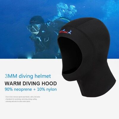 3mm Neoprene Scuba- Diving Snorkeling Neck Hat Full Face Mask Warm Hood CAP USA