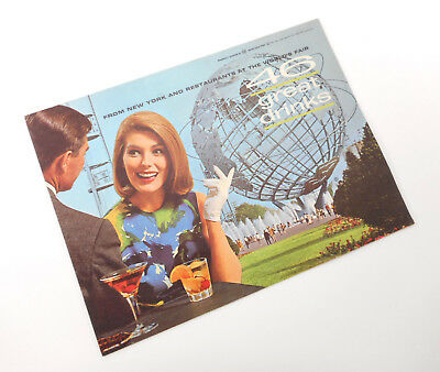 1960s New York Worlds Fair: 46 Great Drinks Drink Recipes Book Mod Illustrations