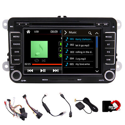 "2Din 7"" Autoradio CD/DVD Player GPS Navigation Bluetooth for VW Volkswagen+Mappa"