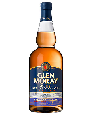 Glen Moray Classic Port Cask Single Malt Scotch Whisky 700mL case of 6