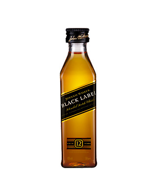 Johnnie Walker Black Label Scotch Whisky 50mL Spirits bottle