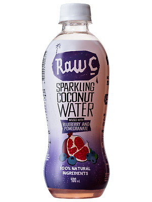 Raw C Sparkling Blueberry Pomegranate Coconut Water 400ml Other Drinks case of 1