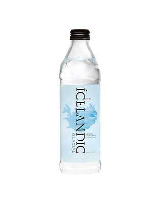 Icelandic Glacial 330mL Super Premium Spring Water pH 8.4 Other Drinks case of 2