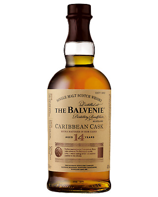 The Balvenie 14 Year Old Caribbean Cask Scotch Whisky 700mL case of 6