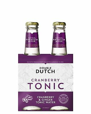 Double Dutch Cranberry Tonic 4 x 200mL Other Drinks case of 24