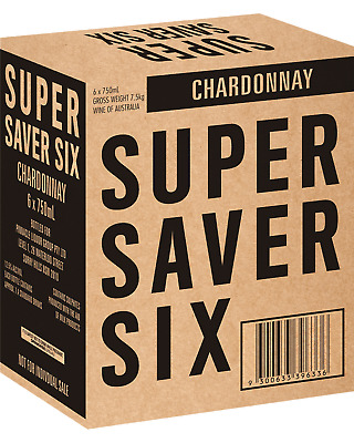 Super Saver Six Chardonnay White Wine 2012 750mL case of 6