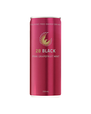 28 Black Pink Grapefruit Mint Energy Drink 250mL Other Drinks Can case of 24