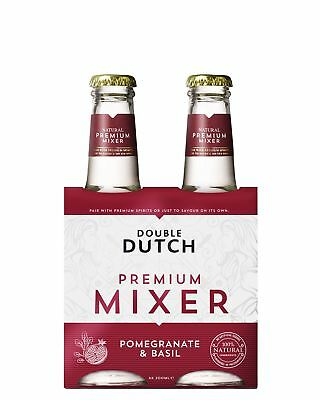 Double Dutch Pomegranate Basil 4 x 200mL Other Drinks case of 24
