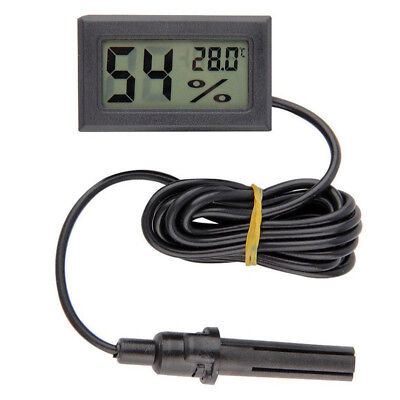 Room Digital Hygrometer Thermometer Home Monitor Humidity Temperature LCD Black