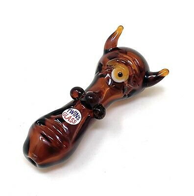 Smoking Tobacco Glass Pipe made in the USA by TwinsGlass GP7 pocket size, 2pack!