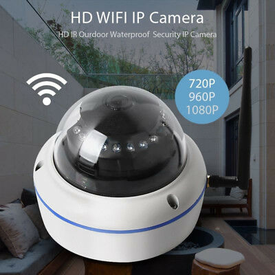 Wireless Outdoor HD 1080P WIFI IP Camera White Dome Home Security IR Cam Parts