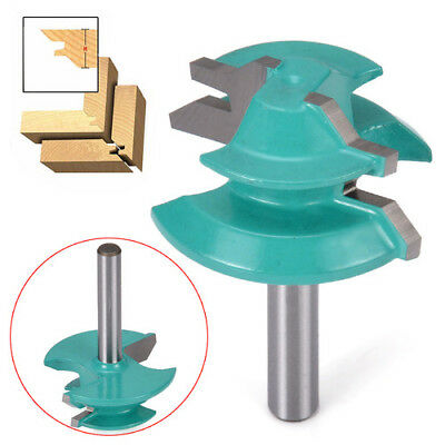 """Wood Lock Miter Router Drill Bits With 45-Degree 1/4"""" Shank Diameter 1-1/2"""""""