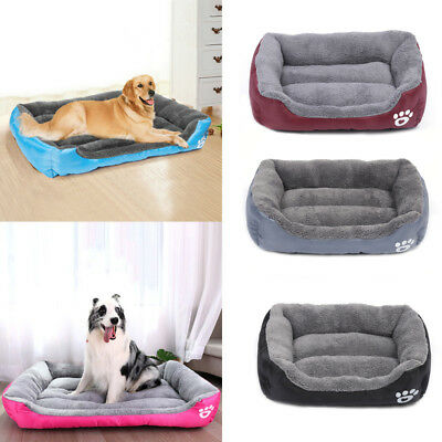 Deluxe Soft Washable Dog Cat Pet Warm Basket Bed Cushion Mat with Fleece Lining
