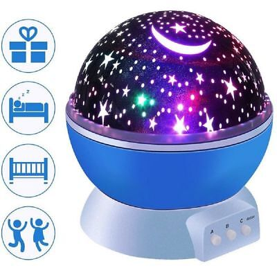 LED Kids Night Light Luminous Romantic Starry Sky Projector Battery USB Charger