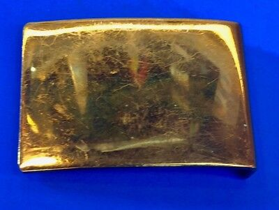 Heavy!!!    Vintage? Solid Brass? Unknown Signed FL3 B?  Belt Buckle Antique?