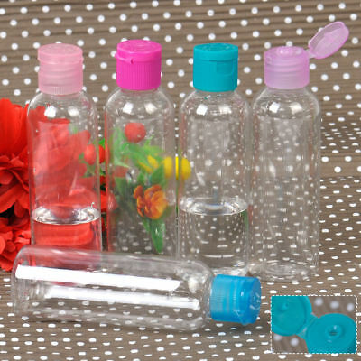 10x 60ML Empty Plastic Bottles Liquid Makeup Lotion Flip Cap Air Flight Travel