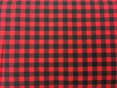 Red and Black Buffalo Check Farmhouse 3/8 Inch Checks Plaid Quilting Fabric w5/9