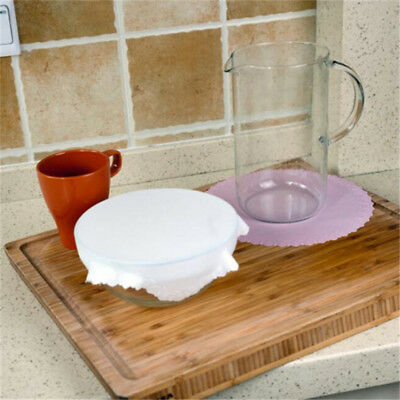 Round Shape Silicone Food Wraps Reusable Keeping Food Fresh Wrap Bowl Cover LG