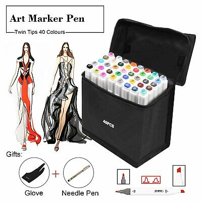 Twin Tip TOUCHNEW MARKER PENS 40 Colours Graphic Sketch Art Markers For Copic