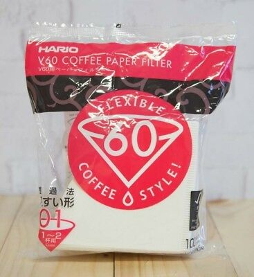 HARIO - V60 - MADE IN JAPAN **MEGA SALE** Coffee paper filter - 01 - 100 sheets