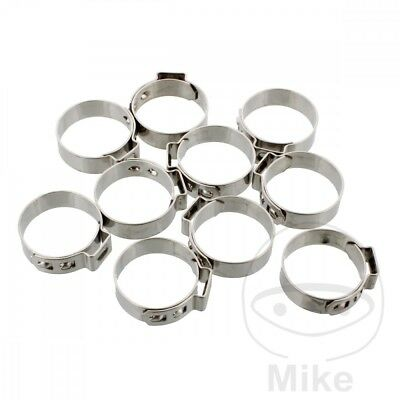JMP Band Clamp 20.8MM Width 7MM Stainless Steel x10pcs