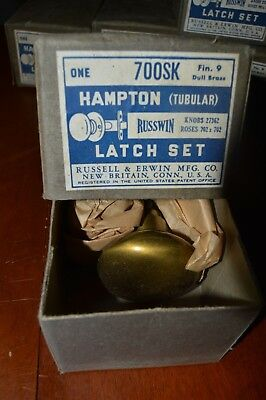 Vintage Russwin Latch Set Knobs Russell Erwin Hampton with Box 700sk