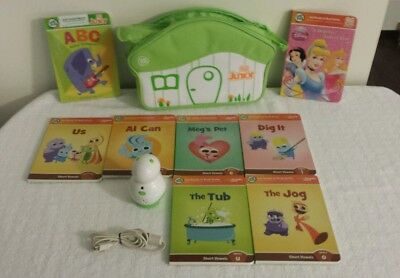Leapfrog Tag Junior Jr System Carry Bag 8 Books  (USED) all programed to reader