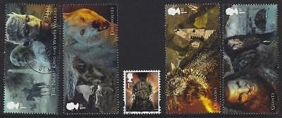 Great Britain 2018 Game Of Thrones 3Rd Issue Set Of 5 Fine Used