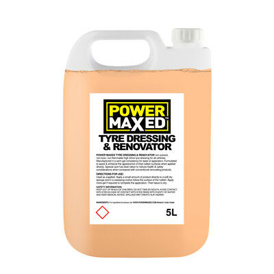 5L Tyre Dressing 5 Litre Concentrate Shine & Rennovator - Power Maxed TS5000