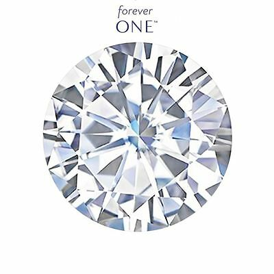 15mm (12.50CT) Rond Charles & Colvard Forever One Libre Moissanite Couleur D