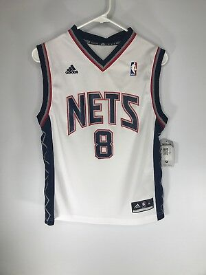 Adidas Youth Brooklyn Nets  8 Deron Williams NBA Jersey White in Select  Sizes d08996c78