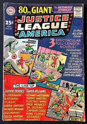 Justice League Of America #39 Very Good Condition 80 Page Giant 1965