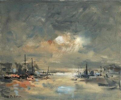 CHARLES PELLETIER (1922-2005) SIGNED FRENCH OIL CANVAS HONFLEUR  to £27,000