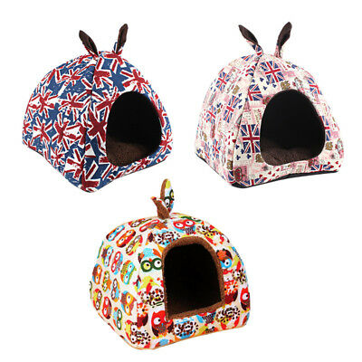 Cat Dog Indoor Home Kennel Puppy Cave Sleeping Bed Super Soft Mats Pad Warm Nest