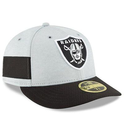 Oakland Raiders New Era 2018 NFL Sideline Home Official Low Profile 59FIFTY ff3456f2f