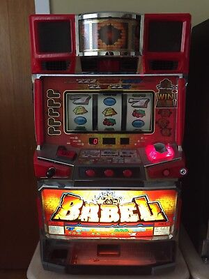 Pachislo Skill Slot Machine Babel Japanese, Extra Reels (4th), LCD Screen, Music