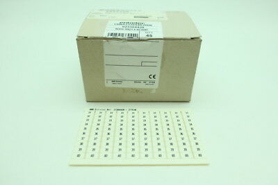 Box Of 45 Sheets Entrelec 1SNA233044R2000 Terminal Block Markers