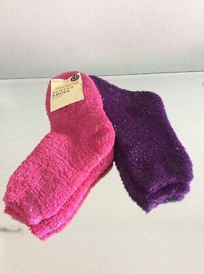 Brand New - Marks And Spencer - Girls Slipper Socks 2 - 3 Years - 6 - 8.5 Size