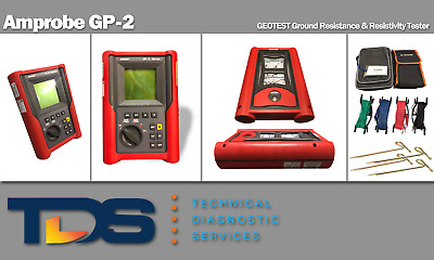 [USED] Amprobe GP-2 Ground Resistance & Resitivity Tester + NIST Calibration