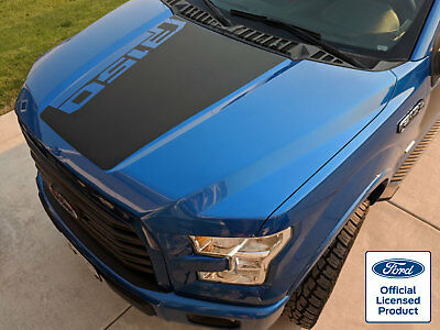 2015-18 FORD F-150 HOOD STRIPE DECAL w/ ANGLED F150 LOGO VINYL STICKERS GRAPHICS