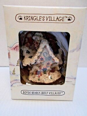 BOYDS BEARLY-BUILT KRINGLE'S VILLAGES RAINDEER DORM HOUSE ORNAMENT c