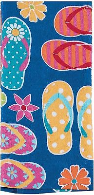 Kay Dee Designs Flip Flops Terry Kitchen Towel One Size Blue/pink/yellow/orange