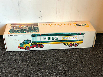 Old Vtg Collectible1975 Hess Fuel Oils Gasoline Toy Trailer Truck Empty Box
