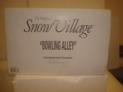 DEPT 56 Snow Village -  Village Lanes Bowling Alley - 56.54858