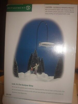 DEPT 56 Snow Village -  Look, It's The Goodyear Blimp - #56.52501