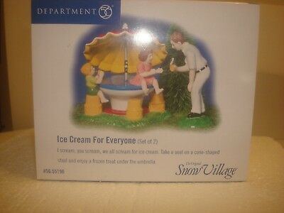 DEPT 56 Snow Village - Ice Cream For Everyone - Set of 2 - 56.55196