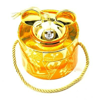 NEW Disney Parks 2018 Mickey Mouse Club Gold Mickey Ear Limited Edition Ornament